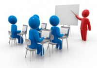 picture of an instructor-led classroom training.