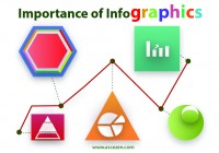 image shows some infographic elements and shapes.