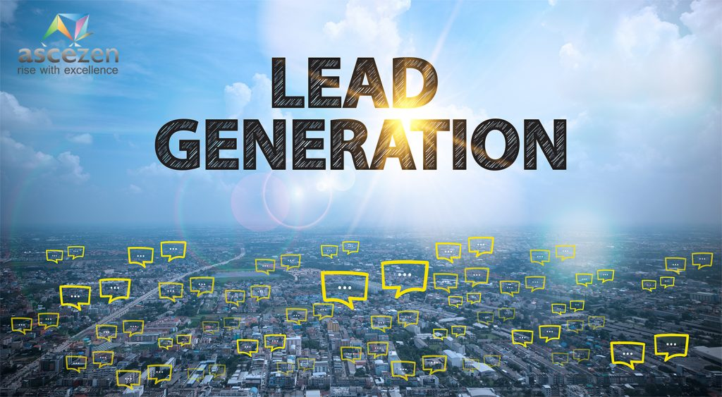 Lead generation written on a pic of a city's skyline. Lead generation from website can help a lot