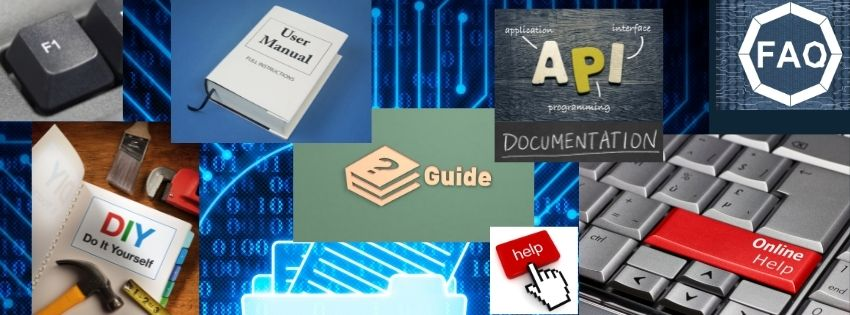 Technical Writing Services Provider  India, API documentation, Online help - a collage of icons, images, and text representing Technical Writing Service outputs.